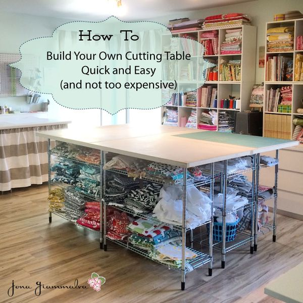 build your own diy cutting table for your sewing room stop staring